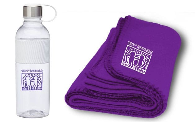 Kai 28 oz. Tritan Water Bottle OR Purple Economy Fleece Blenket